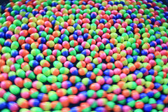 Colorful plastic eggs Royalty Free Stock Photography
