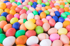 Colorful plastic eggs toy Royalty Free Stock Images