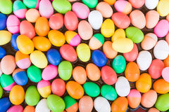 Colorful plastic eggs toy royalty free stock image