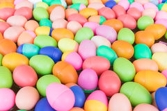 Colorful plastic eggs toy Royalty Free Stock Photos