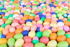 Colorful plastic eggs toy Stock Photo