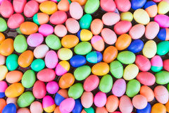 Colorful plastic eggs toy Stock Image