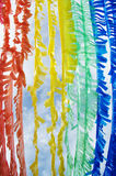 Colorful Plastic Flag Create by Recycle Concept Stock Photos