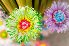Colorful plastic flower Royalty Free Stock Image