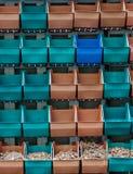 Colorful plastic flowerpot Stock Photography