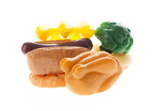 Colorful plastic food Royalty Free Stock Photos