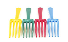 Colorful Plastic Forks Royalty Free Stock Images
