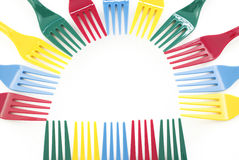 Colorful Plastic Forks Design Stock Image