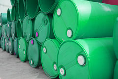 Colorful plastic fuel tanks Royalty Free Stock Photography