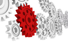 Colorful plastic gears Royalty Free Stock Photo