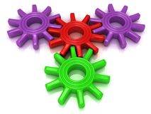Colorful plastic gears Stock Photography