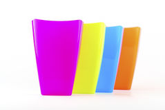 Colorful plastic glasses Royalty Free Stock Photography