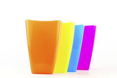Colorful plastic glasses Stock Images