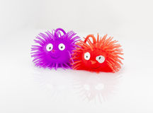 Colorful plastic hedgehog toy Royalty Free Stock Images
