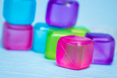 Colorful Plastic Ice Cubes Stock Photography