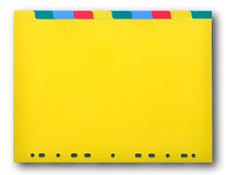 Colorful plastic index sheet Royalty Free Stock Photo
