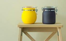 Colorful plastic jar Stock Photos