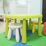Colorful plastic kid chairs Royalty Free Stock Images