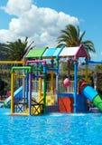 Colorful plastic kids playground. Royalty Free Stock Photo