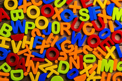 Colorful plastic letters Royalty Free Stock Photo