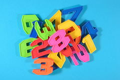 Colorful plastic numbers Stock Photo