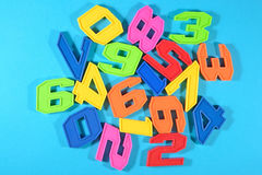 Colorful plastic numbers Stock Photos