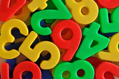 Colorful plastic numbers Royalty Free Stock Image