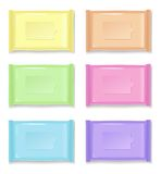 Colorful plastic packages on a white background Stock Photography