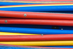 Colorful plastic pipes Royalty Free Stock Photography