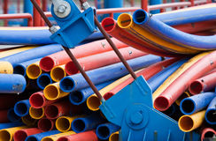 Colorful plastic pipes Royalty Free Stock Photos