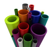 Colorful Plastic Pipes Stock Photography