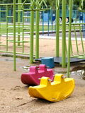 Colorful plastic playground Stock Photography