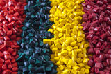 Colorful plastic polymer granules Royalty Free Stock Image