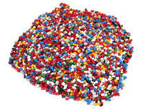 Colorful plastic polymer granules Stock Photography