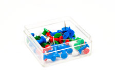Colorful plastic push pins Royalty Free Stock Images