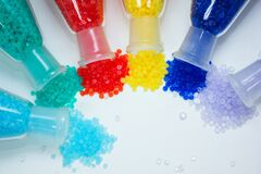 Free Colorful Plastic PVC Compound For Industrial Manufacturing. Stock Photography - 176590832
