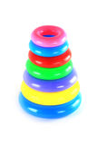 Colorful plastic ring tower Stock Photos