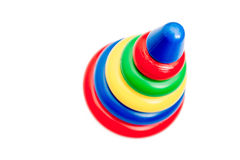 Colorful plastic ring tower. Pyramid for kids Stock Image
