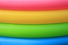 Colorful Plastic Rings Stock Image