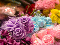 Colorful plastic roses various Stock Photography