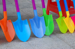Colorful plastic shovel Royalty Free Stock Images