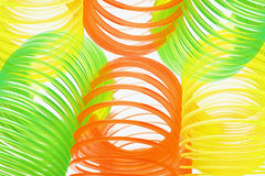 Colorful Slinkies Stock Images