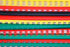 Colorful plastic spine on books Royalty Free Stock Images