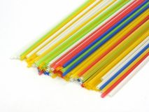 Colorful plastic straws Stock Photography