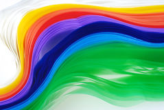 Colorful Plastic Strip. Create by Recycle Concept Royalty Free Stock Photography