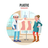 Colorful Plastic Surgery Template Royalty Free Stock Images
