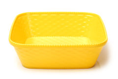 Colorful plastic tableware Royalty Free Stock Image