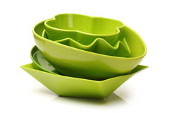 Colorful plastic tableware Stock Photos