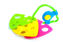 A colorful plastic teething ring Stock Photo
