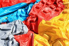 Colorful plastic tent Stock Photography